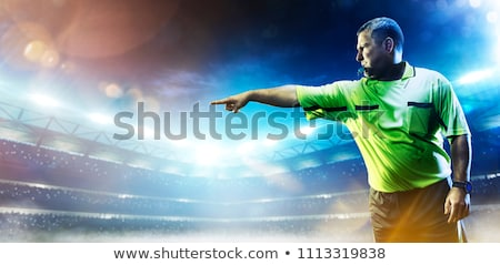Referee Blowing Whistle Stock photo © keeweeboy