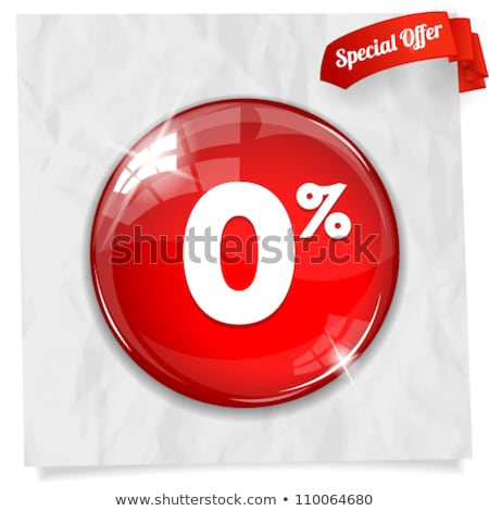 discount label button web glass icon Stock photo © fotoscool