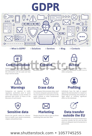 General data protection regulation concept landing page. Stock photo © RAStudio
