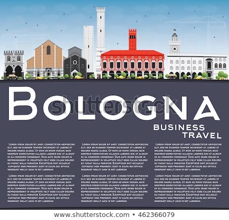Outline Bologna Skyline with Blue Landmarks and Copy Space.  Stock photo © ShustrikS