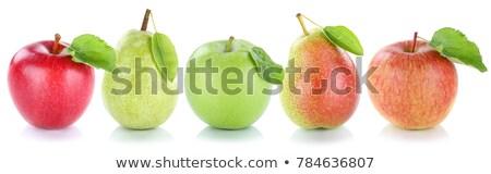Peras aislado blanco rojo pera Foto stock © Pheby