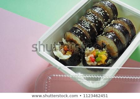 A healthy serving of Korean style sushi Stock photo © galitskaya