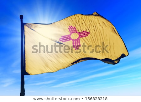Waving Flag of the State of New Mexico Stock photo © nazlisart