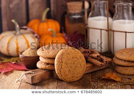 pompoen · cookies · chocolade · rij · voedsel - stockfoto © Freelancer
