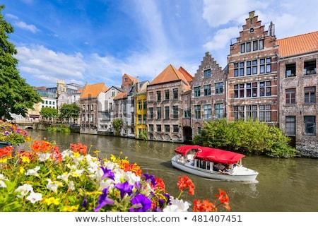 Canal Bélgica vintage retro estilo Foto stock © dmitry_rukhlenko
