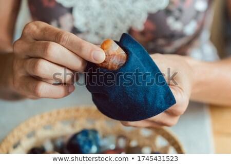 Mulher minerais mineral coleção jovem limpeza Foto stock © Kzenon