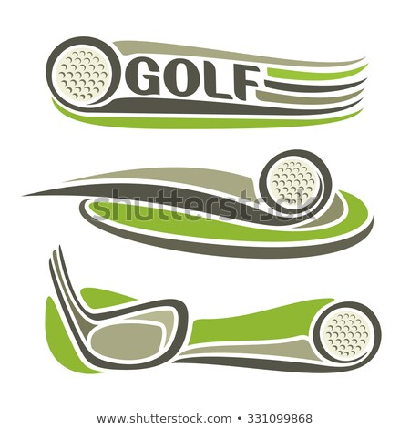 Golf klub mező játszótér játék plakátok Stock fotó © pikepicture
