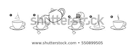 tea cup temperature icon vector outline illustration Stock photo © pikepicture