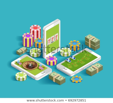 Betting Phone Gambling isometric icon vector illustration Stock photo © pikepicture