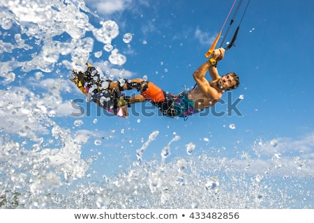 papírsárkány · szörfözik · nagy · víz · tenger · nyár - stock fotó © Imagecom
