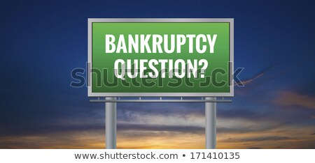 Bankruptcy Questions Road Sign Stock photo © kbuntu