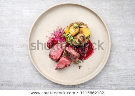 Cowberry on plate Stock photo © RuslanOmega