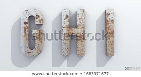 rusted letters stock photo © leonardi