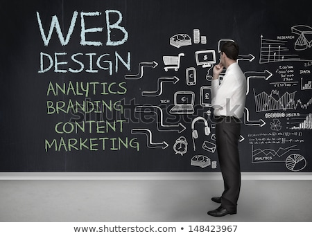 Chalkboard - Web Design Stock photo © kbuntu