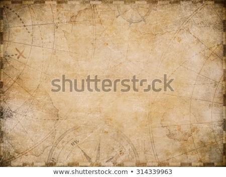 piraat · kaart · illustratie · scroll · papier · zee - stockfoto © noedelhap