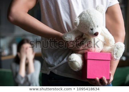 Family in shop with soft toys Stock photo © Paha_L