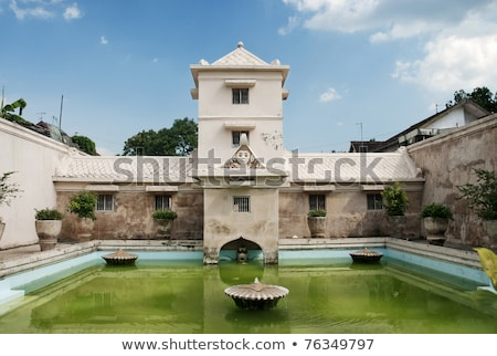 Stock photo: interior pond of palace in solo indonesia