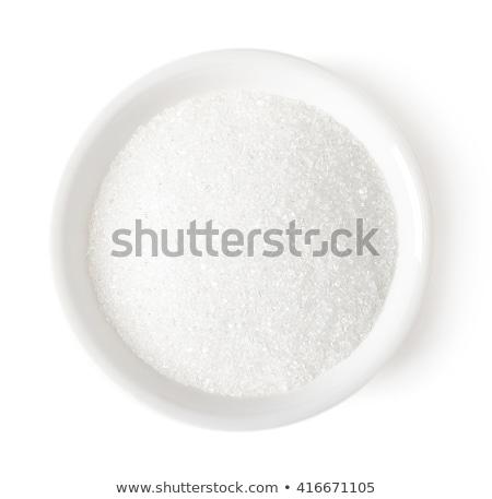 белый сахар ложку полный здоровья кристалл Сток-фото © mblach
