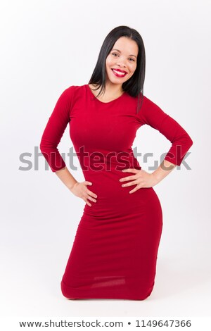 Voluptuous young african american fashion model Stock photo © darrinhenry
