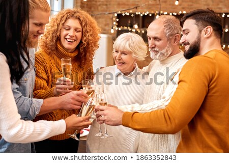 Friends celebrating a birthday together Stock photo © photography33