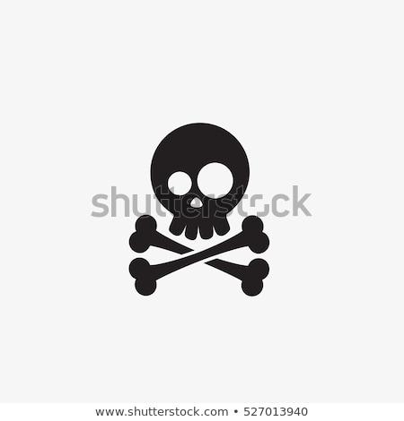 Stock foto: Skull With Cartoon Vector Image