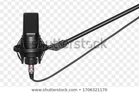 Studio microfono primo piano blu musica record Foto d'archivio © Balefire9