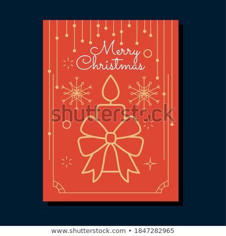 Stockfoto: Christmas · decoraties · kaarsen · Blauw · achtergrond · vak