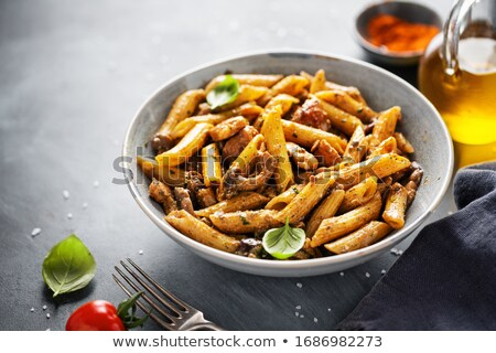 Penne Pasta With Mushrooms stock photo © bendicks