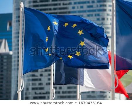 europese · unie · problemen · Europa · vlag · Geel - stockfoto © alvinge