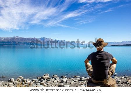 Yaz genç kadın plaj Stok fotoğraf © photocreo