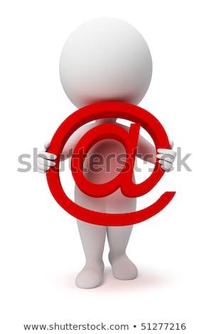 email · fehér · izolált · 3D · kép · internet - stock fotó © dacasdo