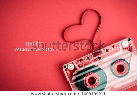 vintage card love and music Stock photo © marimorena