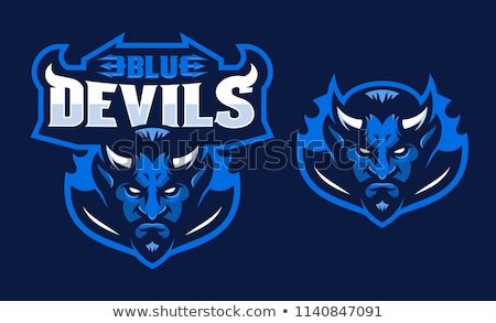 Demon Devil Mascot Head Vector Illustration Stock photo © chromaco