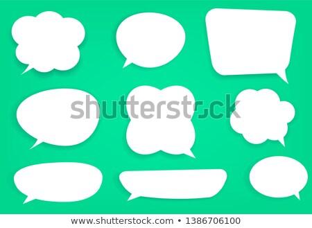 Szövegbuborékok vektor szett különböző szimbólumok felirat Stock fotó © alvaroc