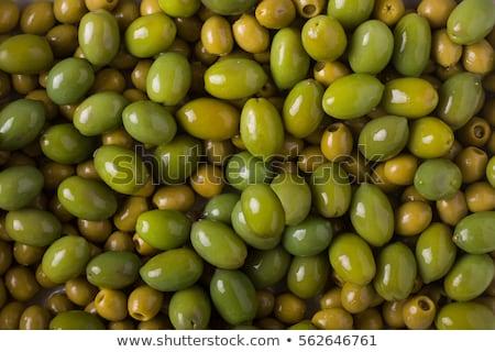 zöld · olajbogyók · fényes · közelkép · étel · gyümölcs - stock fotó © Rebirth3d