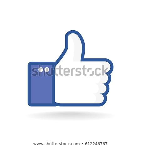 wie · Symbol · Internet · blau · Kommunikation - stock foto © tony4urban