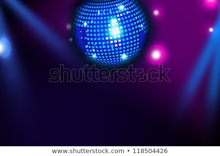 Abstract techno disco magie bal poster Stockfoto © simpson33