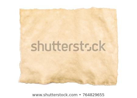 古い · 引き裂かれた紙 · 孤立した · 白 · 紙 · 背景 - ストックフォト © latent