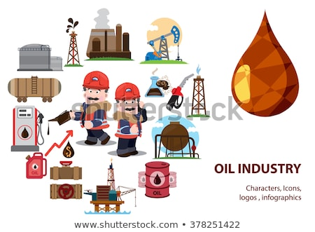 Producing oil wells in the field. Stock photo © justinb
