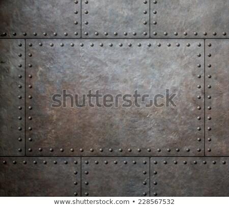 Zardzewiałe metal arkusza tekstury przemysłu żelaza Zdjęcia stock © njaj