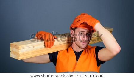 woodworker carrying a timber Stock photo © photography33