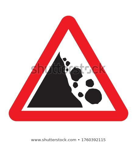 Sign beware dangerous cliffs Stock photo © chris2766