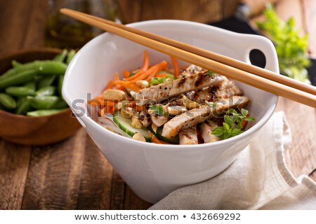 Fresh Asian Salad with Chicken Stock photo © ildi