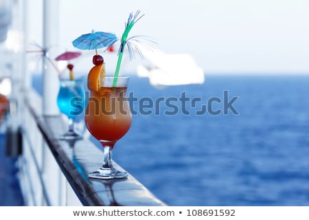 Cocktails on a cruise ship Stock photo © OleksandrO