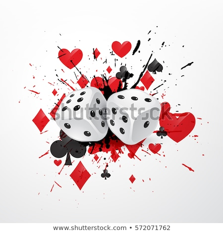 gambling illustration with casino elements on grunge background stock photo © articular