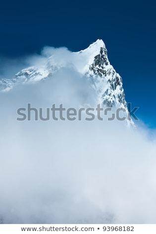 Cholatse 6335m Summit Hidden In Clouds Stok fotoğraf © Arsgera