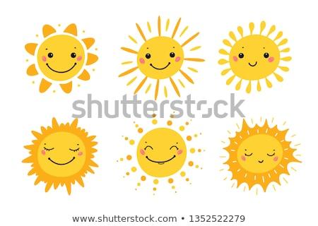 Criança sol vetor desenho animado Foto stock © lutjo1953