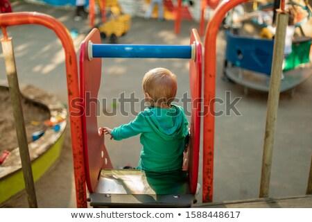 Portre küçük erkek oyun alanı çocuk iletişim Stok fotoğraf © pumujcl