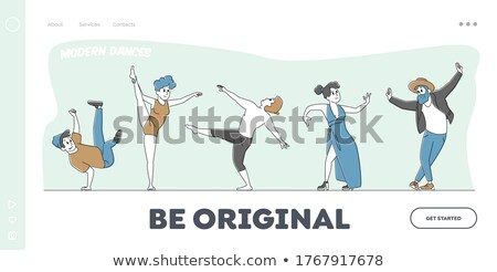 Man performs hip pop steps Stock photo © get4net