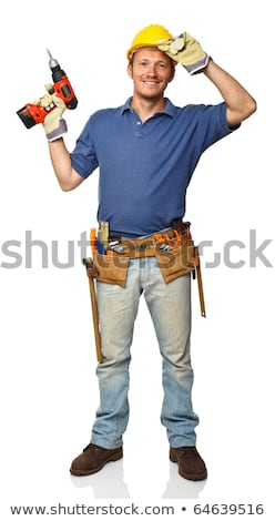 Portrait of a tradesman holding a hammer Stock photo © photography33